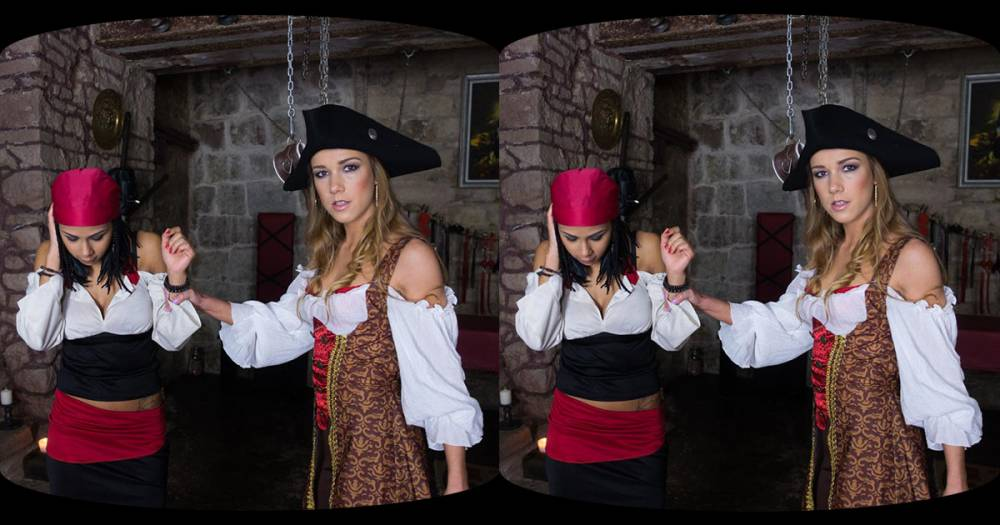 Czech VR 130 - Lesbian pirates in action